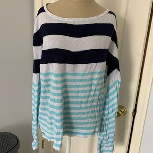 Lilly Pulitzer navy and blue stripe sweater